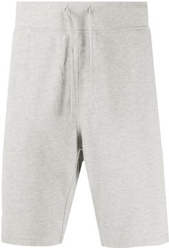 relaxed-fit drawstring track shorts - Grey