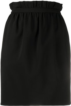 paperbag waist mini skirt - Black