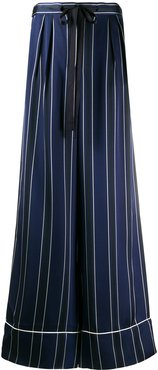 wide-leg striped trousers - Blue