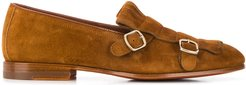 double buckled loafers - Brown
