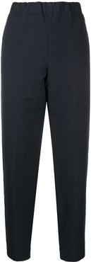 cropped tappered trousers - Blue