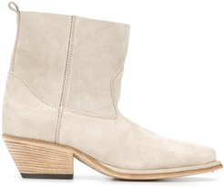 ankle length 55mm boots - NEUTRALS