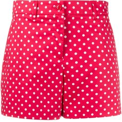 polka-dot short shorts - Red