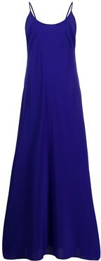 maxi slip dress - Blue