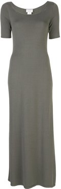 short-sleeve maxi dress - Grey