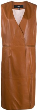 double breasted tailored waistcoat - Brown