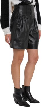 Leather Shorts With High Waist