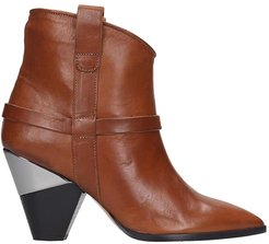 Texan Ankle Boots In Leather Color Leather
