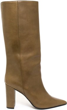 Iris Boot In Brown Leather