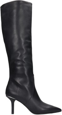Katerina High Heels Boots In Black Leather