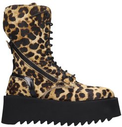 Ripple Boot Combat Boots In Animalier Pony Skin