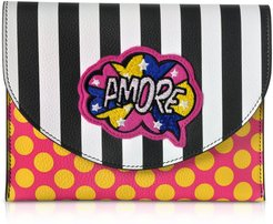 Miracle Pop Amore Leather Clutch