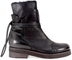 Black Leather Laces Boot