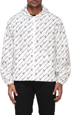 Jacket Versace Nylon Jacket With All Over Signature