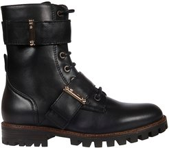 Annabkl Strapped Laced-up Boots