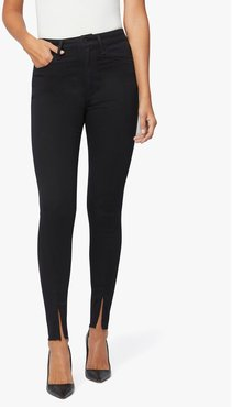 Joe's Jeans Women's Joe's X Weworewhat | The High Rise Skinny Zip Jeans in Black | Size 30 | Cotton/Polyester/Elastane