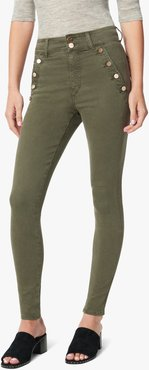 Joe's Jeans Women's The High Rise Jeans in Grape Leaf/Green | Size 30 | Cotton/Spandex/Polyester