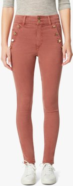 Joe's Jeans Women's The High Rise Jeans in Marsala Pink/Red | Size 24 | Cotton/Spandex/Polyester