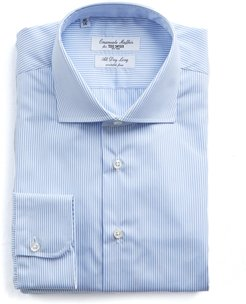 Light Blue Stripe Wrinkle Free Dress Shirt