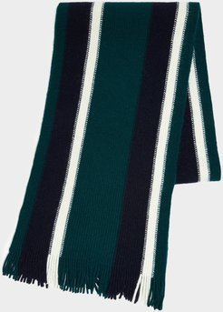 Collegiate Striped Scarf in Green