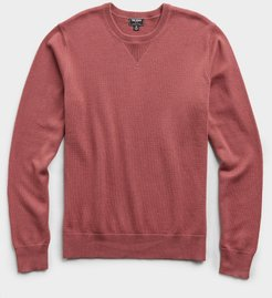 Cotton Cashmere Sweater in Mulberry