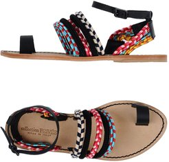 COLLECTION PRIVEE? Toe strap sandals