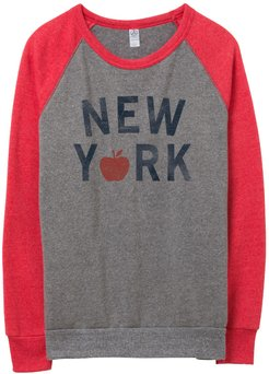 New York Champ Color Block Eco-Fleece Sweatshirt