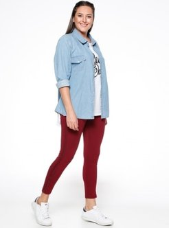 Maroon - Plus Size Leggings - AGI