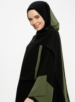 Black - Khaki - Plain - Shawl - Ferrace By Arzu Ergen