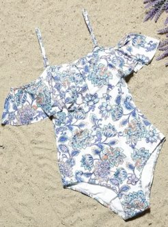 Blue - White - Multi - Fully Lined - Half Covered Switsuits - AQUELLA