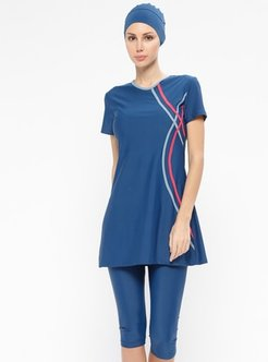 Navy Blue - Fully Lined - Half Covered Switsuits - Adasea