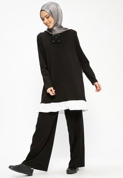 Black - Tracksuit Bottom - Al Tatari