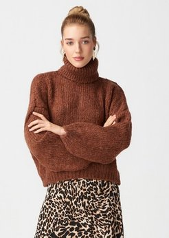 Brown - Polo neck - Jumper - Dilvin