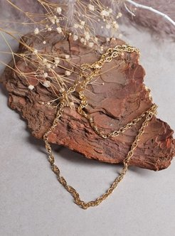 Gold - Necklace - By Geda