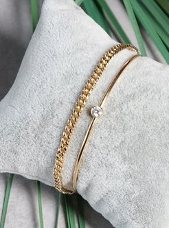 Gold - Bracelet - By Geda