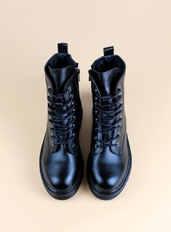 Black - Boot - Boots - Angelshe