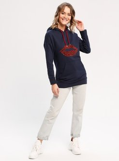 Cotton - Navy Blue - Sweat-shirt - BY LEYAL FOR YOUNG