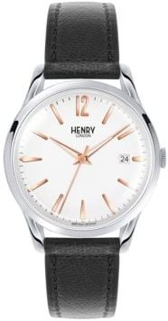 Highgate Stainless Steel Analog Leather Strap Watch