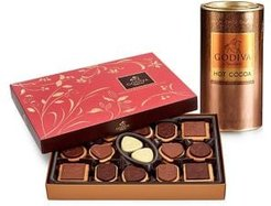 Chocolatier Milk Chocolate Hot Cocoa and 32-Piece Chocolate Biscuit Gift Set