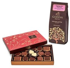 Chocolatier Chocolate Truffle Coffee & Chocolate Biscuit Gift Set