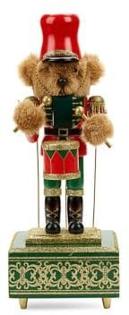 Holiday Charms Music Bear Nutcracker Decor