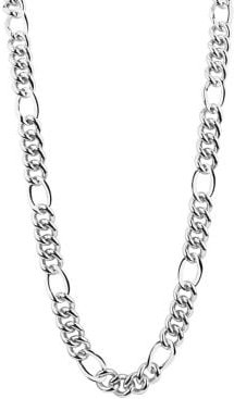 Figaro Sterling Silver Link Necklace