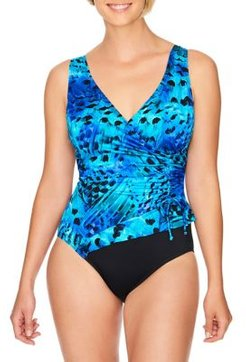 Feathered One-Piece Swimsuit