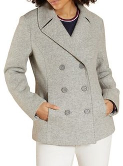 Notch Wool-Blend Peacoat