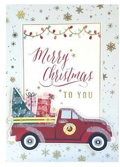 10-Piece Red Truck Boxed Holiday Greeting Cards