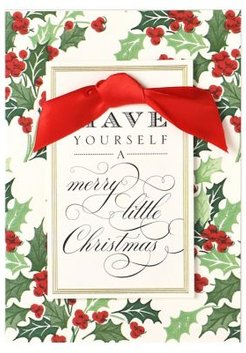 10-Piece Holly Have Yourself a Merry Christmas Boxed Holiday Greeting Cards