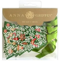 10-Piece Tree Partridges 3D Gift Tags