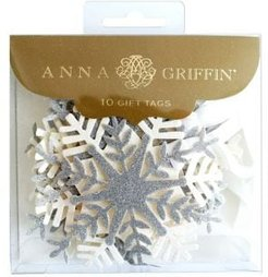 10-Piece Glitter Snowflake 3D Gift Tags