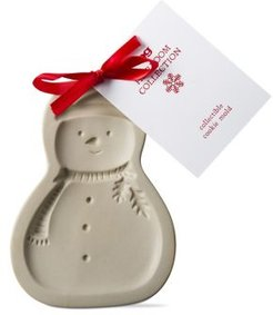 Whimsy Holiday Snowman Heirloom Stoneware Cookie Mold