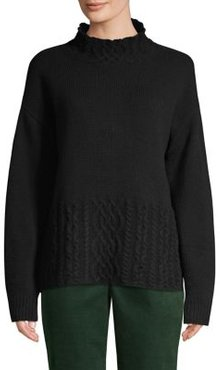 Cable-Knit Merino Wool-Blend Sweater